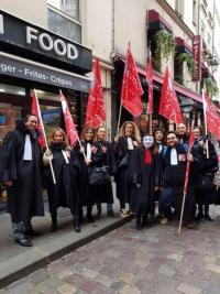 manifestation de 8.000  avocats le 15 janvier et aucune information à la télévision